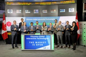 YDreams Global Interactive Technologies Inc. Opens the Market