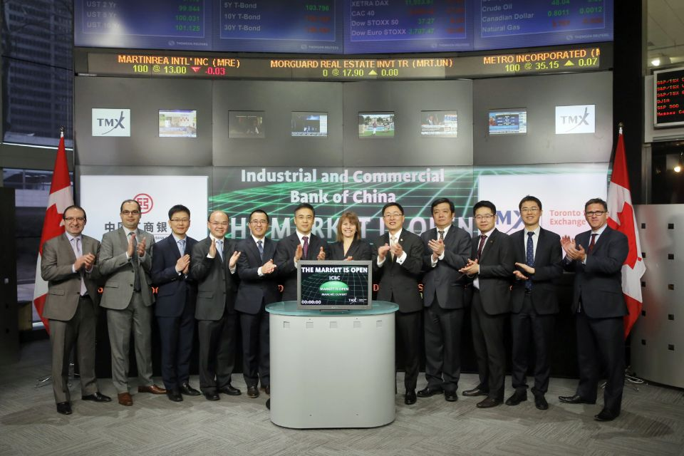 TMX Group and Industrial and Commercial Bank of China (Canada) Sign Memorandum of Understanding
